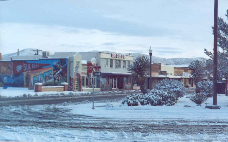Snowy day downtown alpine quot by donna greene