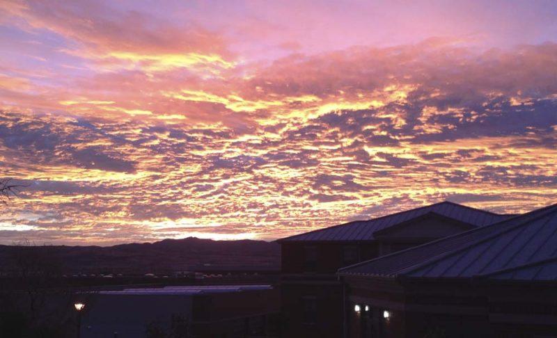Sunrise over Sul Ross (Jan 2013)