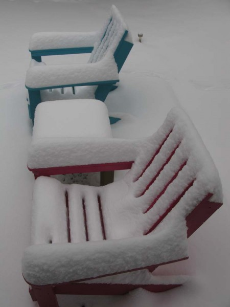 Snow on Our Chairs
