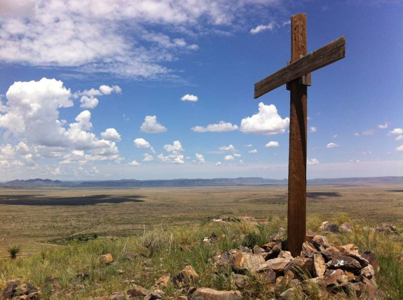 The Wooden Cross Overlooking Alpine 2 Alpine Texas