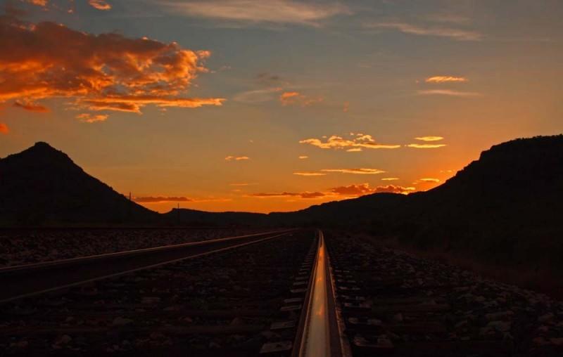 Rails at Sunset, Sunny Glenn, Alpine, TX