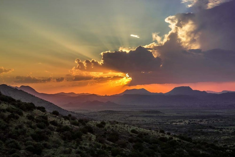Sunset in the Valley