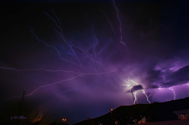 Lightning Strike just beyondAlpine Train Station
