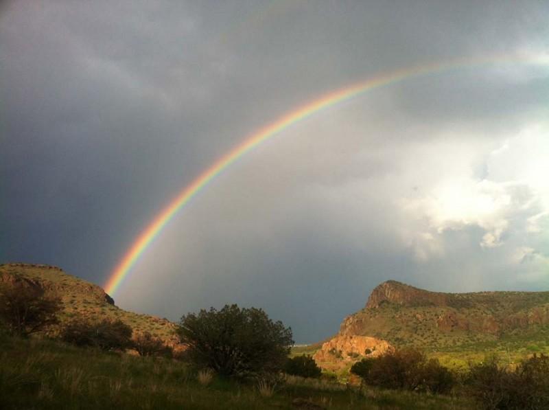 Rainbow over Alpine (taken from Sunny Glen)