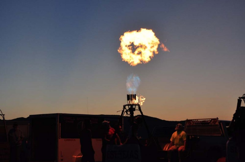 """Ring of Fire"" at the Fire Concert during the 2013 Big Bend Balloon Bash"