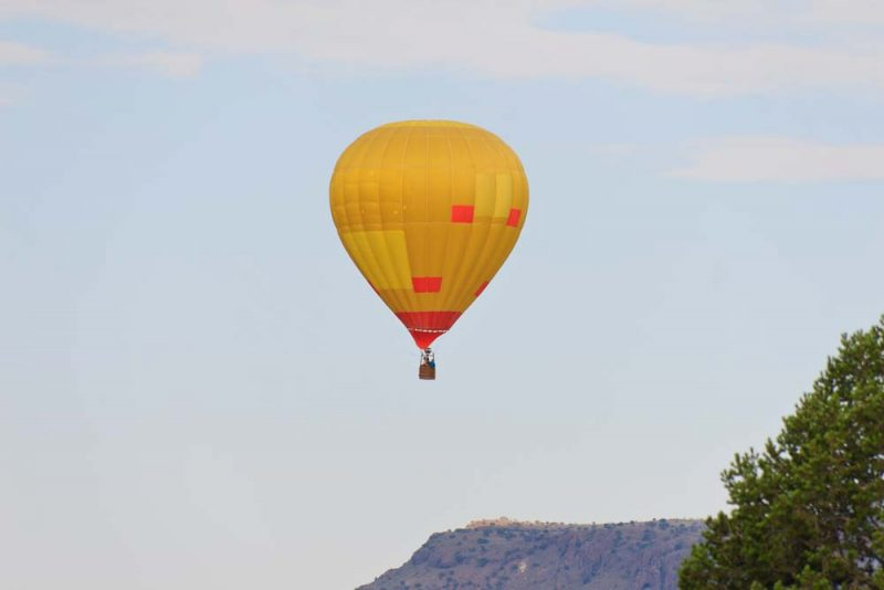 Balloon over Alpine