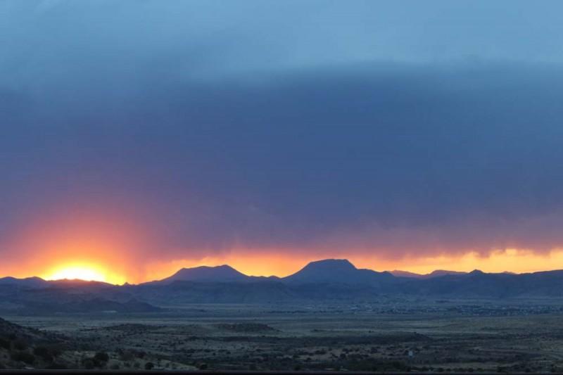Sunset above Alpine