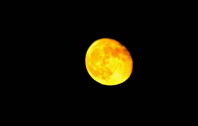 Harvest Moon in Alpine, Texas