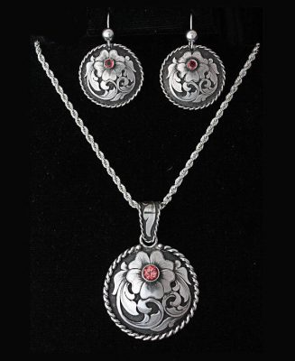 Smile jewelry set by silversmith Rex Crawford